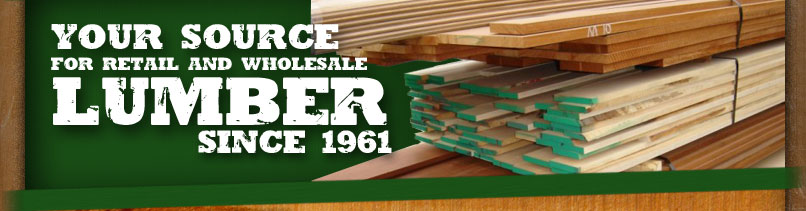 Your source for retail and wholesale lumber since 1961